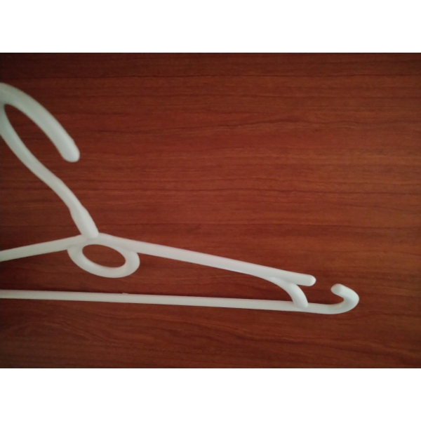 Детские вешалки с поворачивающимся крючком белые ПО-5