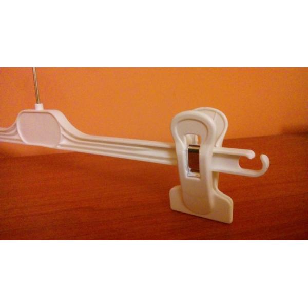 Вешалка пластиковая с прищепками белая ВБР-29
