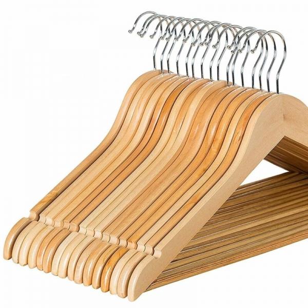 Плечики для одежды деревянные  с перекладиной  (30НП) класс В