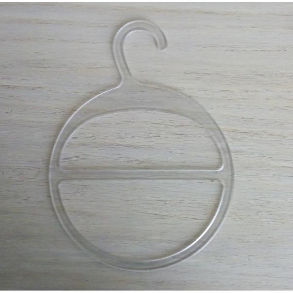 Пластиковая вешалка для шарфов с большим крючком (ВШ-прозрачная)